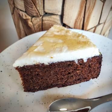 עוגת דבש וקרם וניל